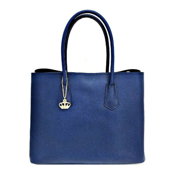 Kožená kabelka Gaia Dark Blue