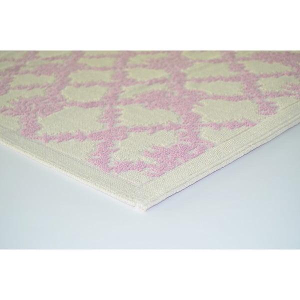 Staroružový odolný koberec Vitaus Scarlett, 120x180cm