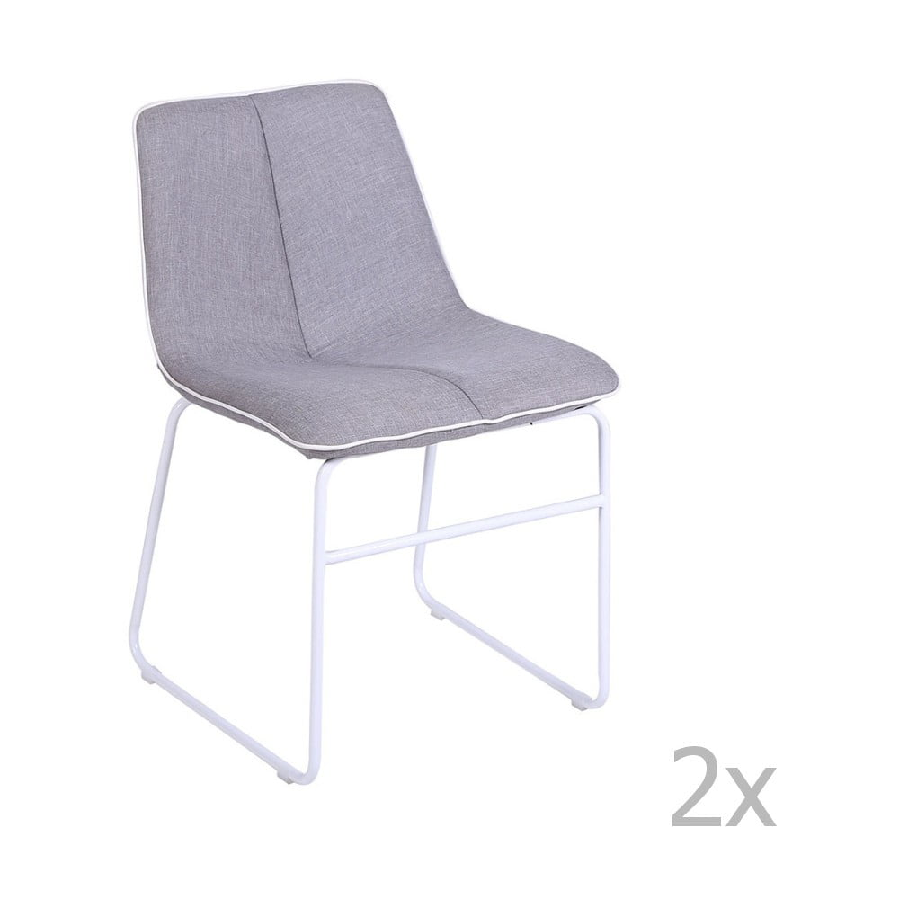 563e158bb35a Sada 2 sivých stoličiek Global Trade Gaia