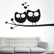 Samolepka na stenu Zamilované sovy, ľavá strana