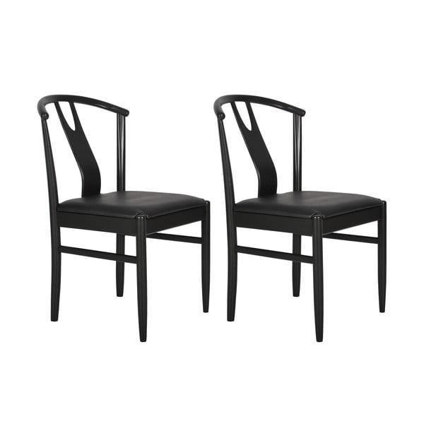 Čierna jedálenská stolička RGE Hugo