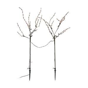 Sada 2 dekoratívnych stromčekov s LED svetlami Naeve, výška 70 cm