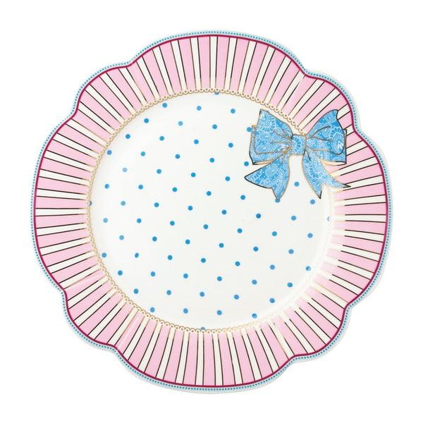 Porcelánový tanier  Bowie od Lisbeth Dahl, 24 cm, 4 ks
