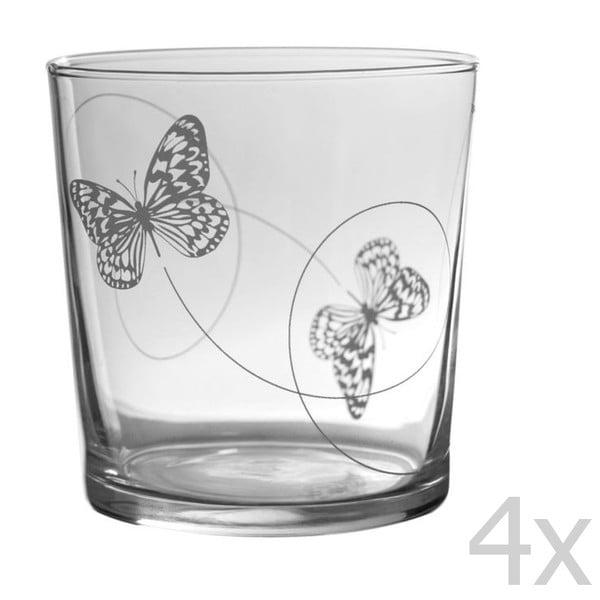 Sada 4 pohárov Butterfly Bodega, 370 ml