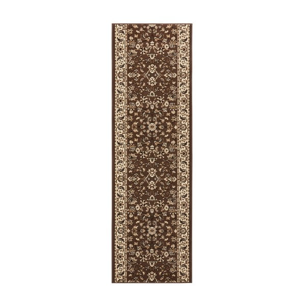 Koberec Basic Vintage, 80x300 cm, hnedý