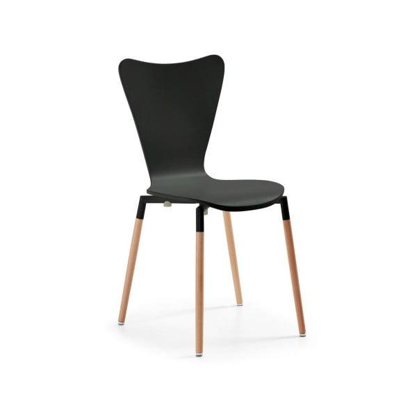 Čierna stolička La Forma Eclectic