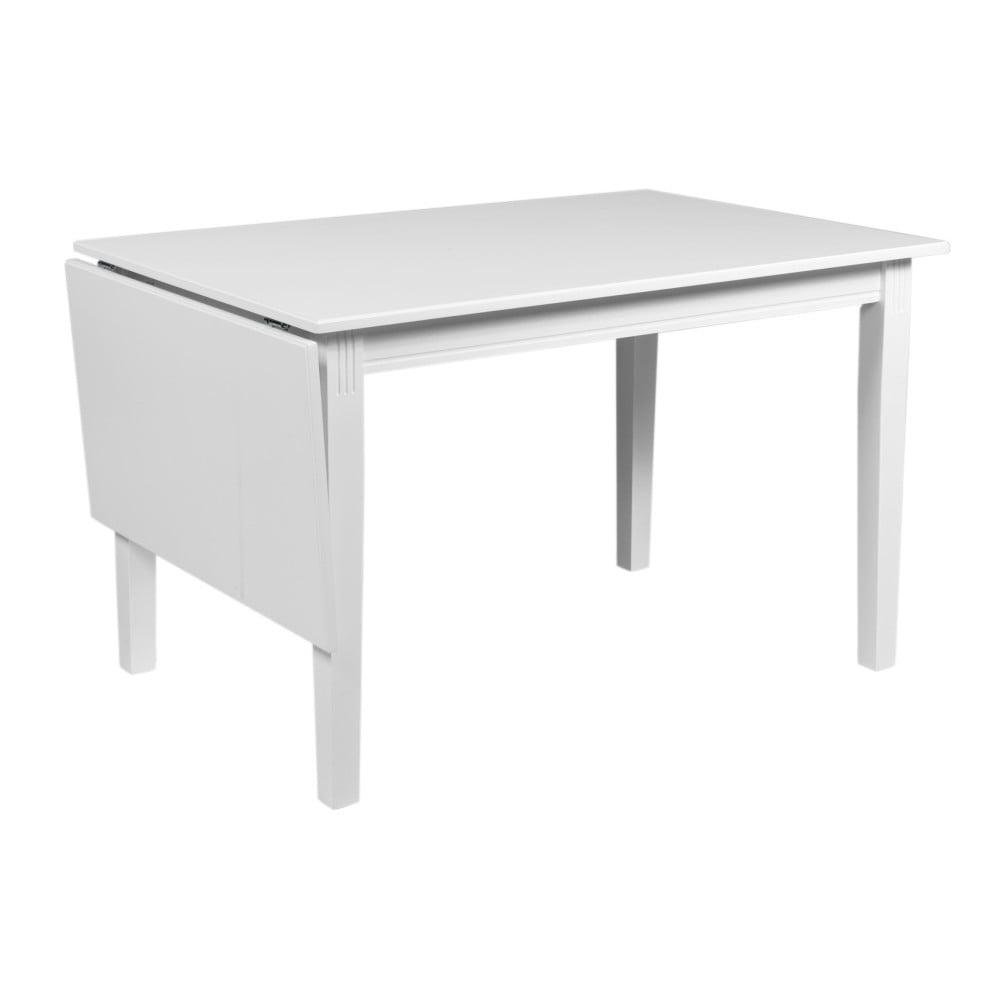 Biely sklápací stôl z dubového dreva Folke Wittskar, dĺžka 120-165 cm