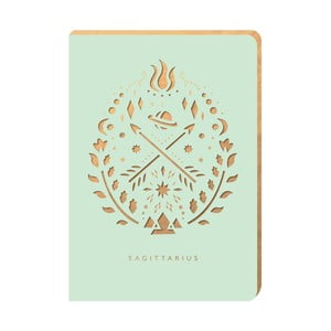 Linajkový zápisník Portico Designs Strelec, 124 stránok