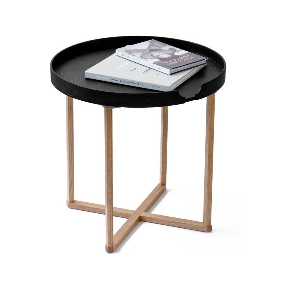 Čierny odkladací stolík Wireworks Damieh, 45 × 45 cm