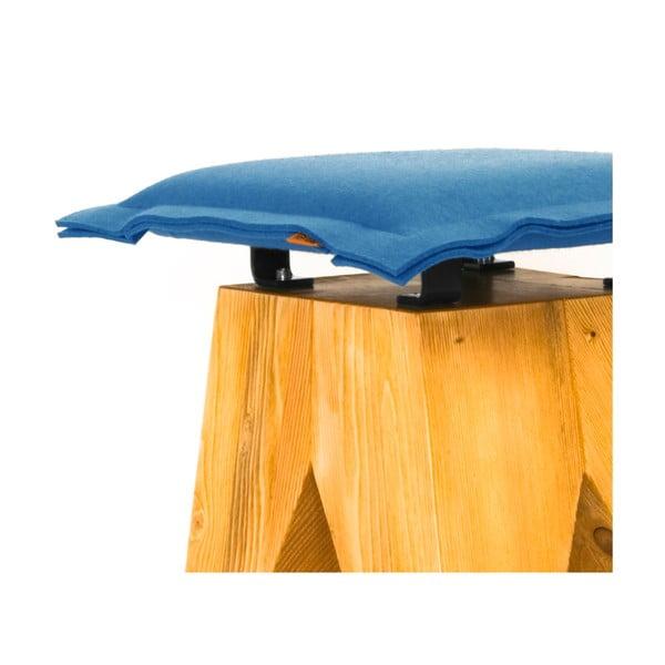 Drevená stolička Low, modrá