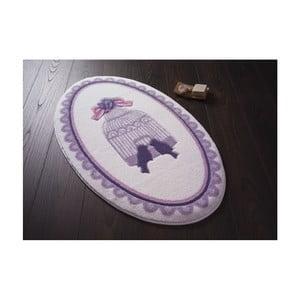 Kúpeľňová predložka Confetti Bathmats Birdcage Purple, 66 x 107 cm