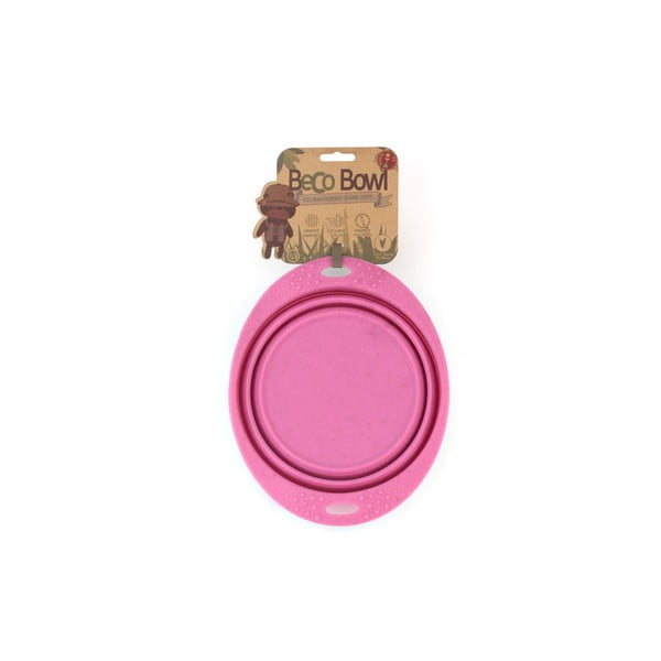 Cestovná miska Beco Travel Bowl 22 cm, ružová
