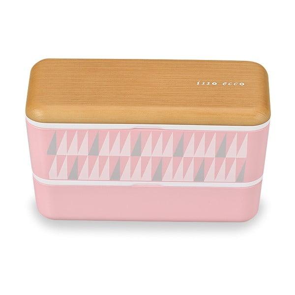 Ružový desiatový box Joli Bento Samedi, 1 l
