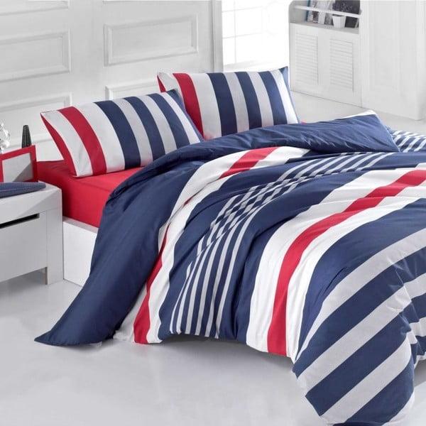 Obliečky Stripe Navy Mood, 140x200 cm