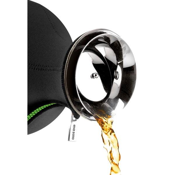 Čierna čajová kanvica Eva Solo Neopren Lime, 1l
