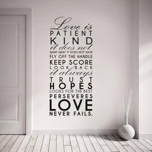 Samolepka na stenu Love is …