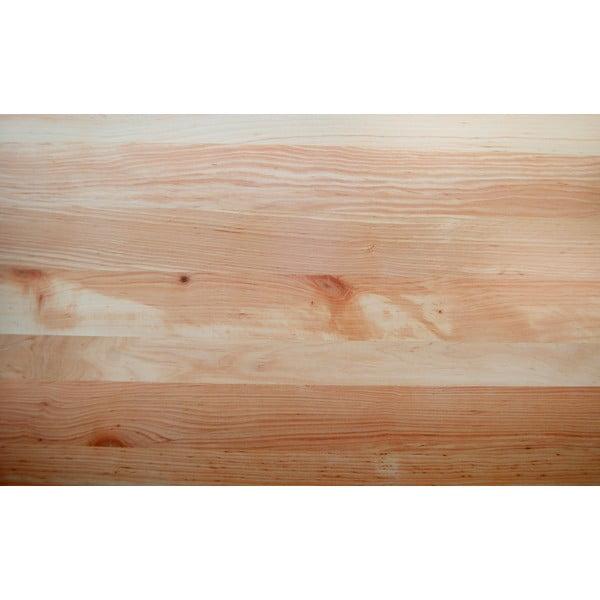 Vznášajúca sa posteľ z jelšového dreva Mazzivo Loop, 140 x 200 cm