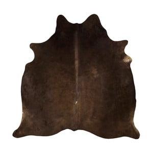 Hnedý koberec z hovädzej kože, 180 x 155 cm