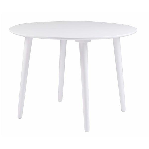 Biely jedálenský stôl z dreva kaučukovníka Folke Lotte