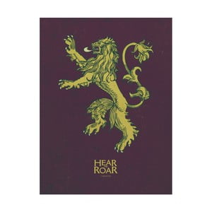 Obraz Pyramid International Game of Thrones Lannister, 60 × 80 cm