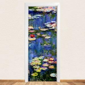 Samolepka na dvere LineArtistica Waterlili, 80×215 cm