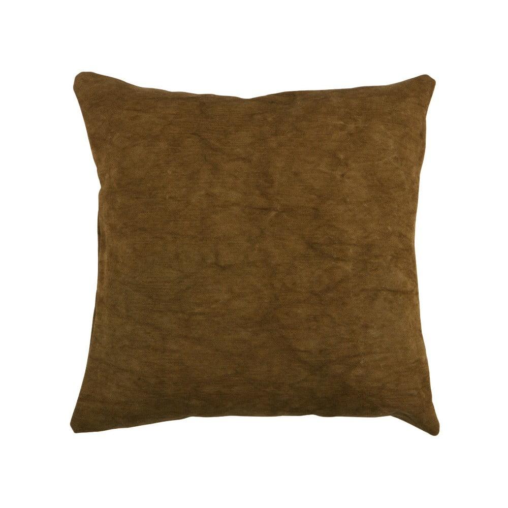 Hnedý vankúš WOOOD Belle, 45 × 45 cm