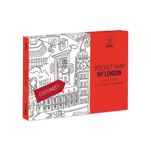 Vrecková omaľovánka mapa London