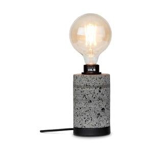 Sivá stolová lampa z lávového kameňa Good&Mojo Galapagos, výška 20 cm