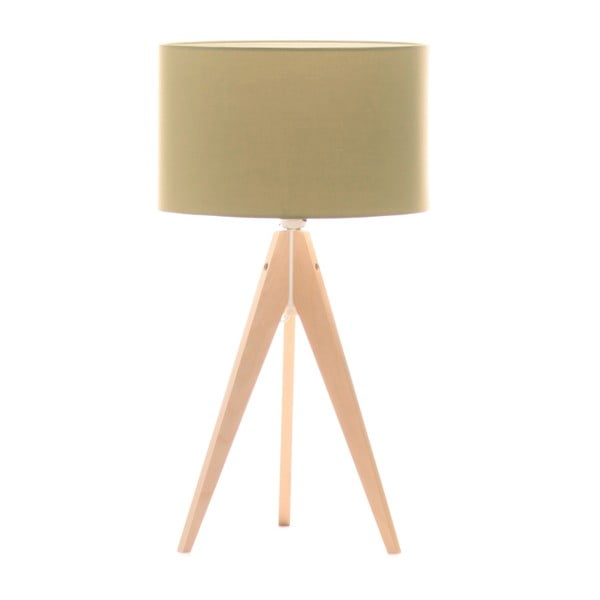 Stolná lampa Artist Mint/Birch, 40x33 cm