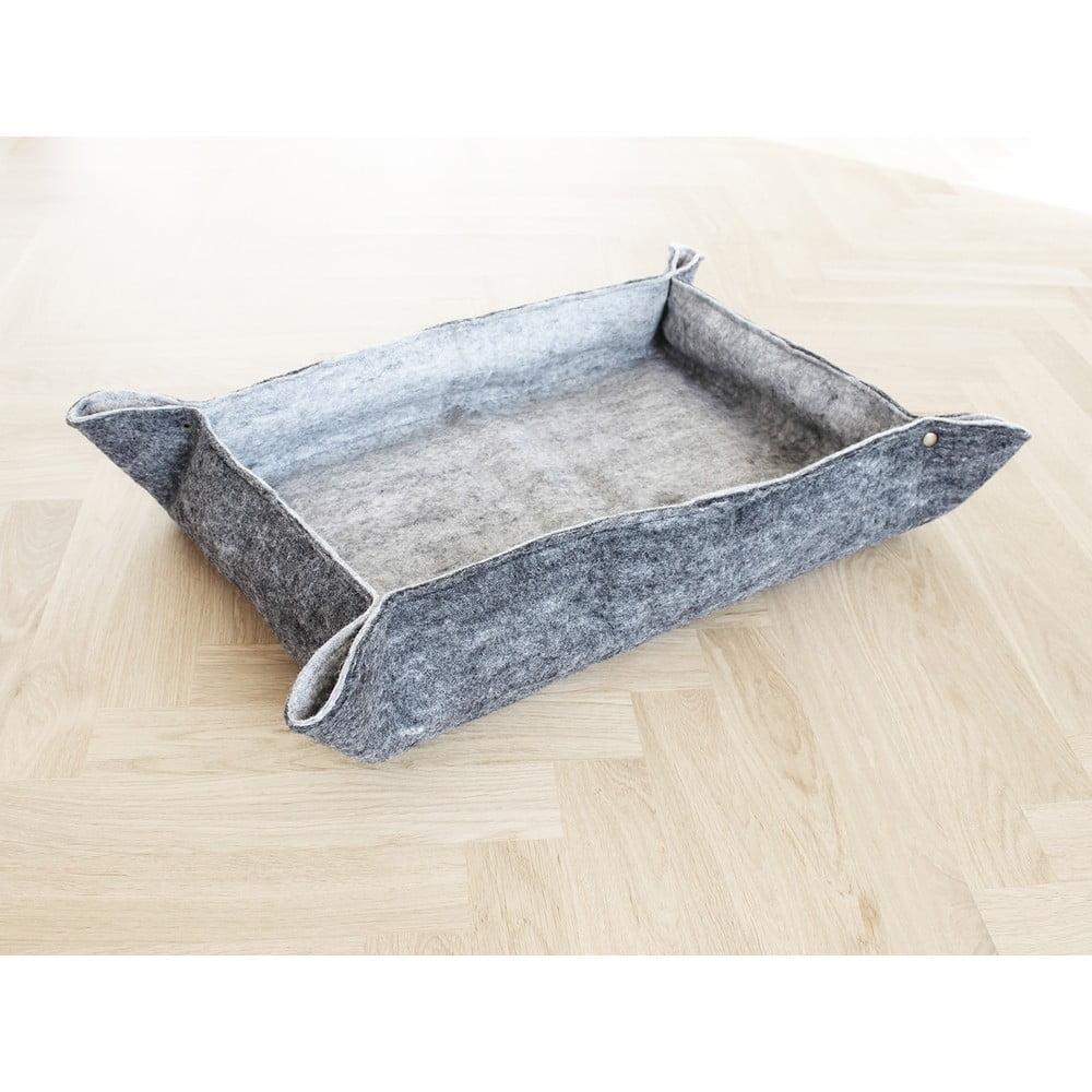 Sivý plstený pelech z vlny pre domáce zvieratá Wooldot Felt Pet Mat, 80 x 60 cm