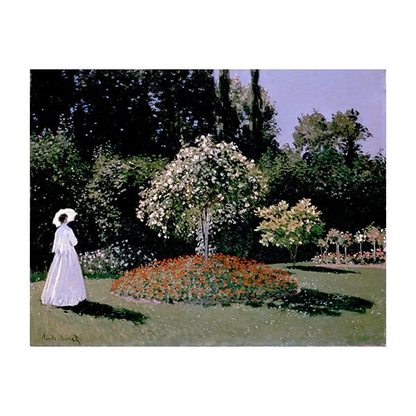 Obraz Claude Monet - Woman in the Garden, 90x70 cm