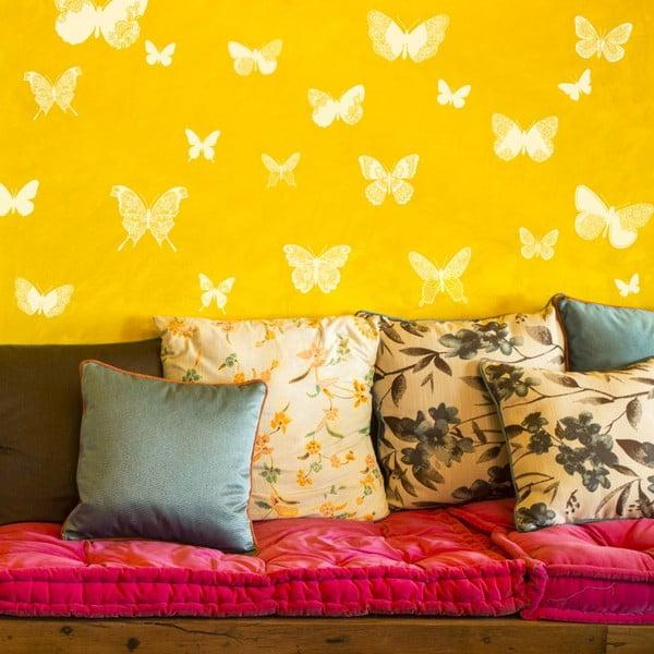 Sada 26 samolepiek Chic Butterflies White