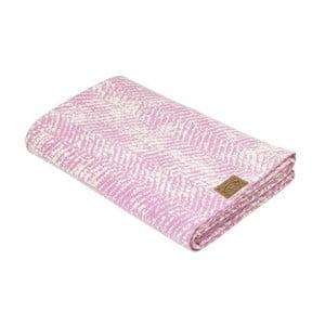 Ružová deka Hawke&Thorn Herringbone, 130x180cm