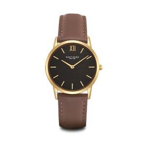 Dámske hodinky s hnedým koženým remienkom a ciferníkom v zlatej farbe Eastside Upper Union