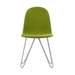 Zelená stolička s kovovými nohami IKER Mannequin X Stripe