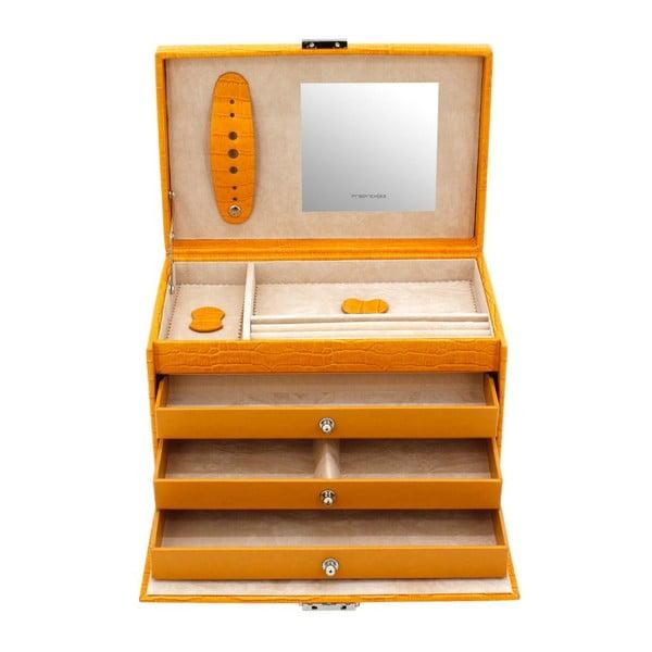 Šperkovnica Classico Yellow, 24x15x16 cm