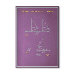 Plagát Wind Surfboard, 30x42 cm
