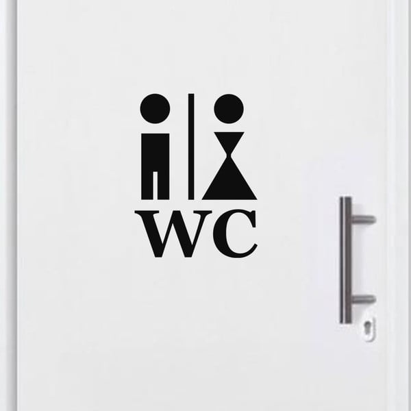 Samolepka Man and Woman WC