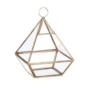 Sklenená vitrínka / kvetináč Stand Glass Gold, 22 cm