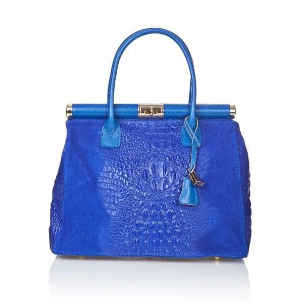Modrá kožená kabelka Markese Mara