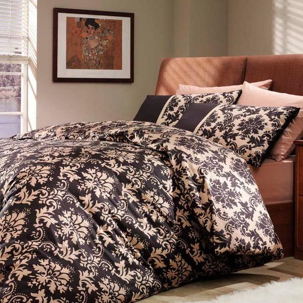 Obliečky s plachtou Avantgarde, 160x220 cm, hnedé