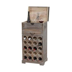 Hnedý stojan na 20 fliaš vína Mendler Shabby
