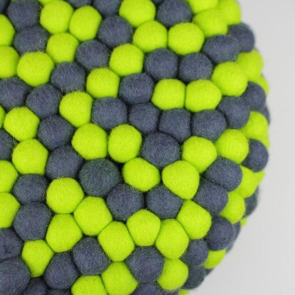Ručne vyrobený guličkový puf Match Point, guľatý