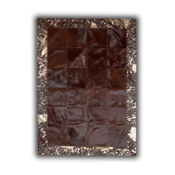 Koberec z pravej kože Acid Bronze, 140x200 cm