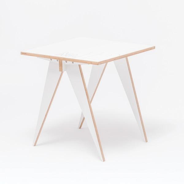Jedálenský/pracovný stôl ST, dĺžka 72 cm, biely