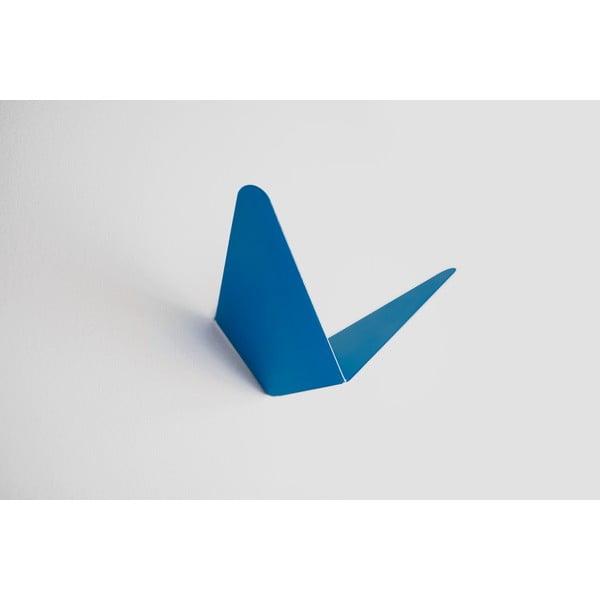 Vešiak s úložným priestorom Butterfly, modrý, 11,4x10,9 cm