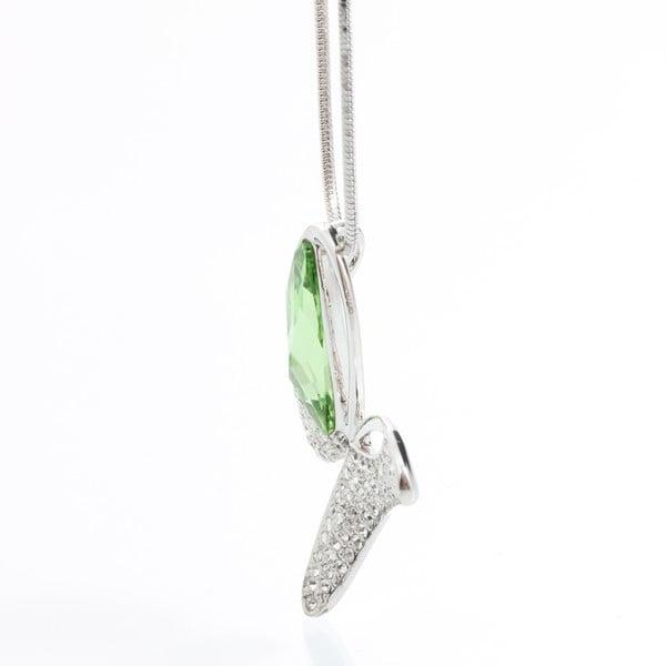 Náhrdelník s krištáľmi Swarovski a zeleným detailom Elements Laura Bruni Facility