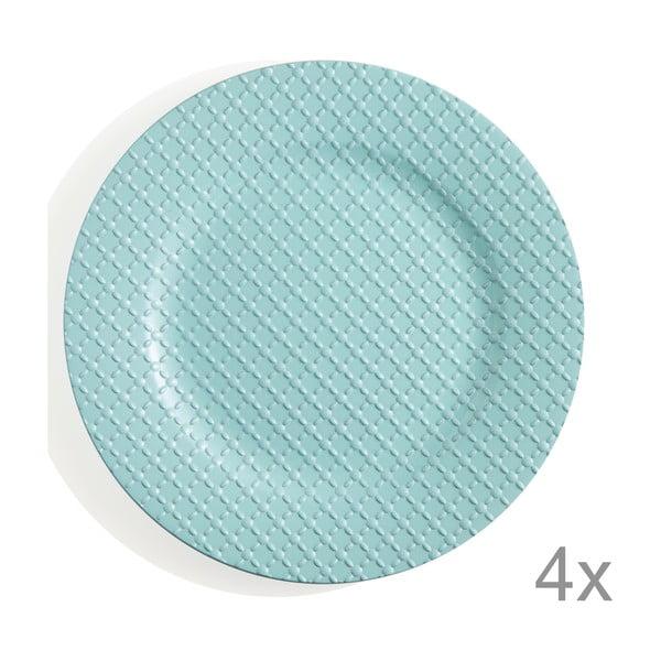 Sada 4 plastových tanierov Tiffany