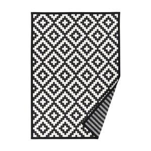 Čierno-biely vzorovaný obojstranný koberec Narma Viki, 140 × 200 cm