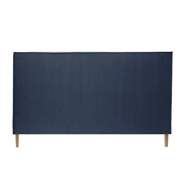 Tmavomodrá posteľ VIVONITA Kent 140x200cm, svetlé nohy